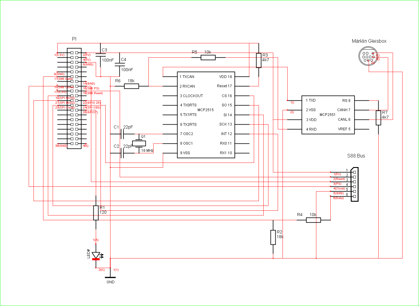 Maerklin Digital Steuerung Mit Raspberry Pi Ohne Cs2 B Circuit Diagram After It Was Working Perfectly I Have Decided To Create A Board Which Fits Into The So Here Is Now My Step By Instruction For